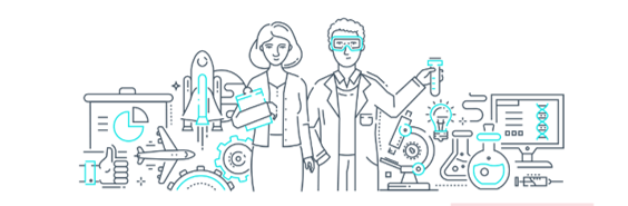 Image of PostDocs in a lab